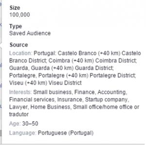 segmentação campanha Facebook